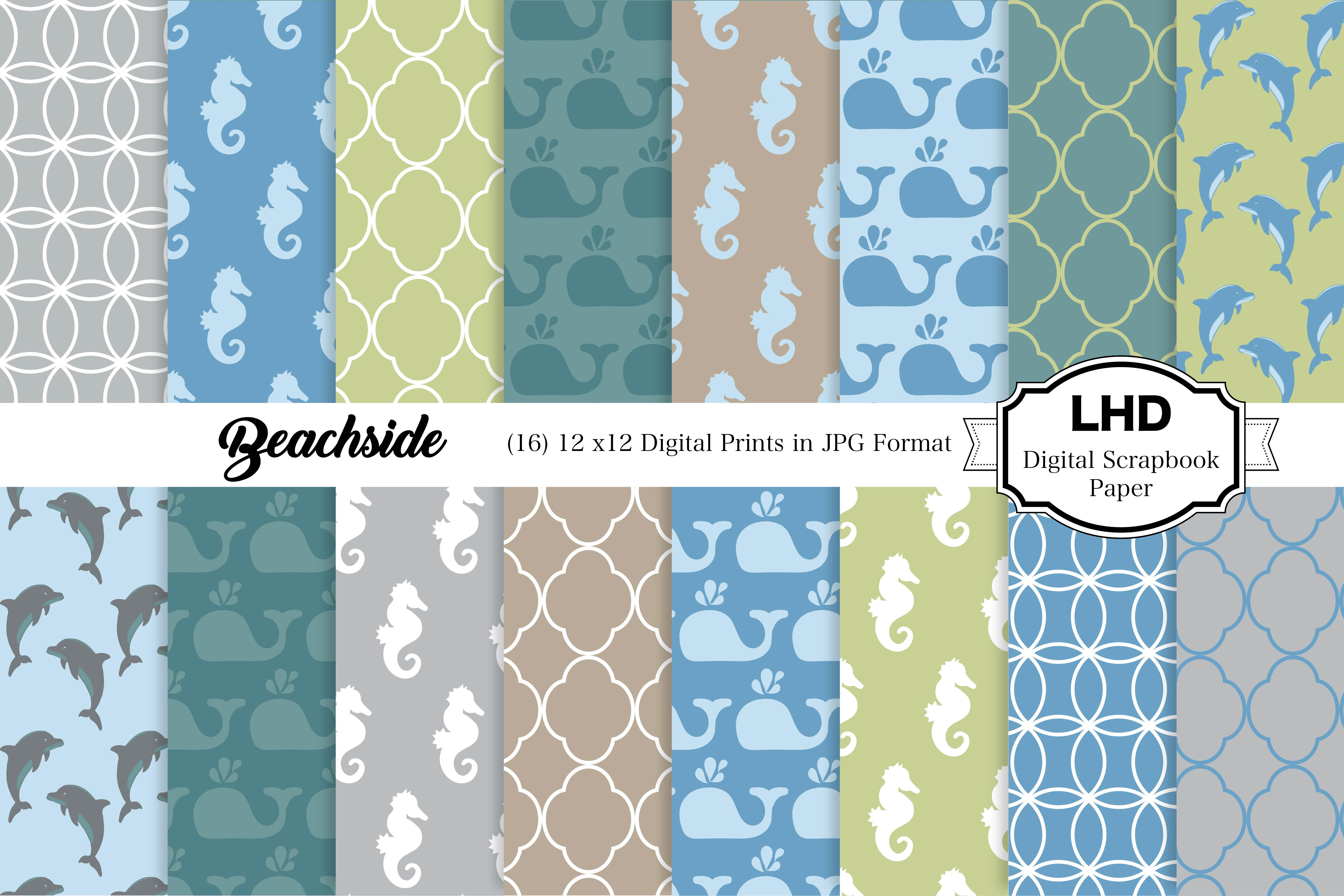 Download Free Beach Days Beachside Digital Papers Graphic By SVG Cut Files