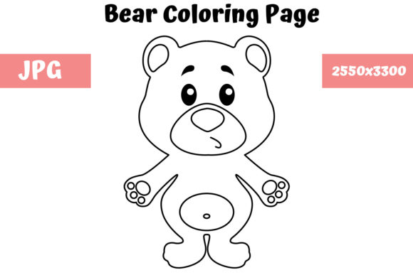Print on Demand: Bear - Coloring Page for Kids Graphic Coloring Pages & Books Kids By MyBeautifulFiles