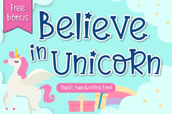 Print on Demand: Believe in Unicorn Script & Handwritten Font By vividdiy8