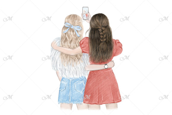 Best Friends Forever Illustration Graphic Illustrations By MaddyZ - Image 1