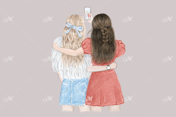 Best Friends Forever Illustration Graphic Illustrations By MaddyZ - Image 2