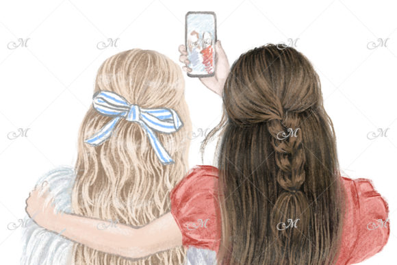 Best Friends Forever Illustration Graphic Illustrations By MaddyZ - Image 3
