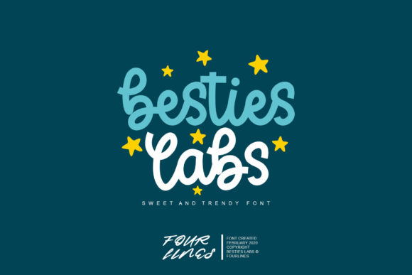 Print on Demand: Besties Labs Script & Handwritten Font By Fourlines.design