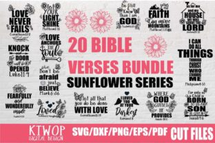 Download Free Bible Verses Bundle V 1 Bundle Creative Fabrica for Cricut Explore, Silhouette and other cutting machines.