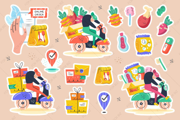Download Free Big Delivery Clipart Prints Stickers Graphic By Foxbiz for Cricut Explore, Silhouette and other cutting machines.