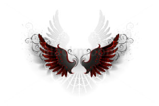 Black Wings Graphic Illustrations By Blackmoon9