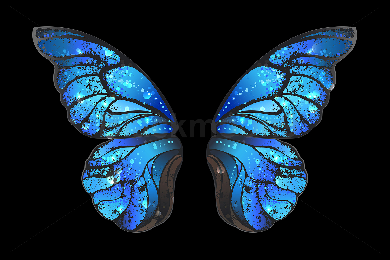 Download Free Blue Butterfly Wings Grafik Von Blackmoon9 Creative Fabrica for Cricut Explore, Silhouette and other cutting machines.
