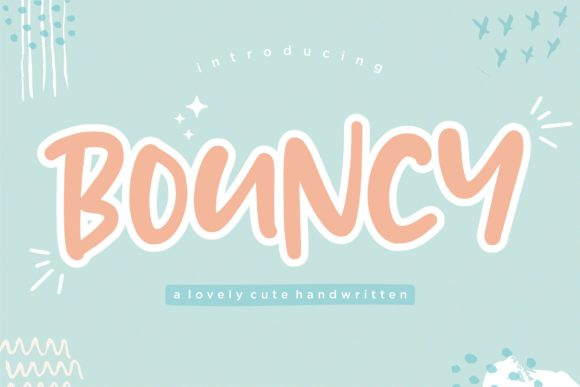 Print on Demand: Bouncy Script & Handwritten Font By Balpirick