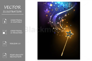 Bright Magic Wand Graphic Illustrations By Blackmoon9