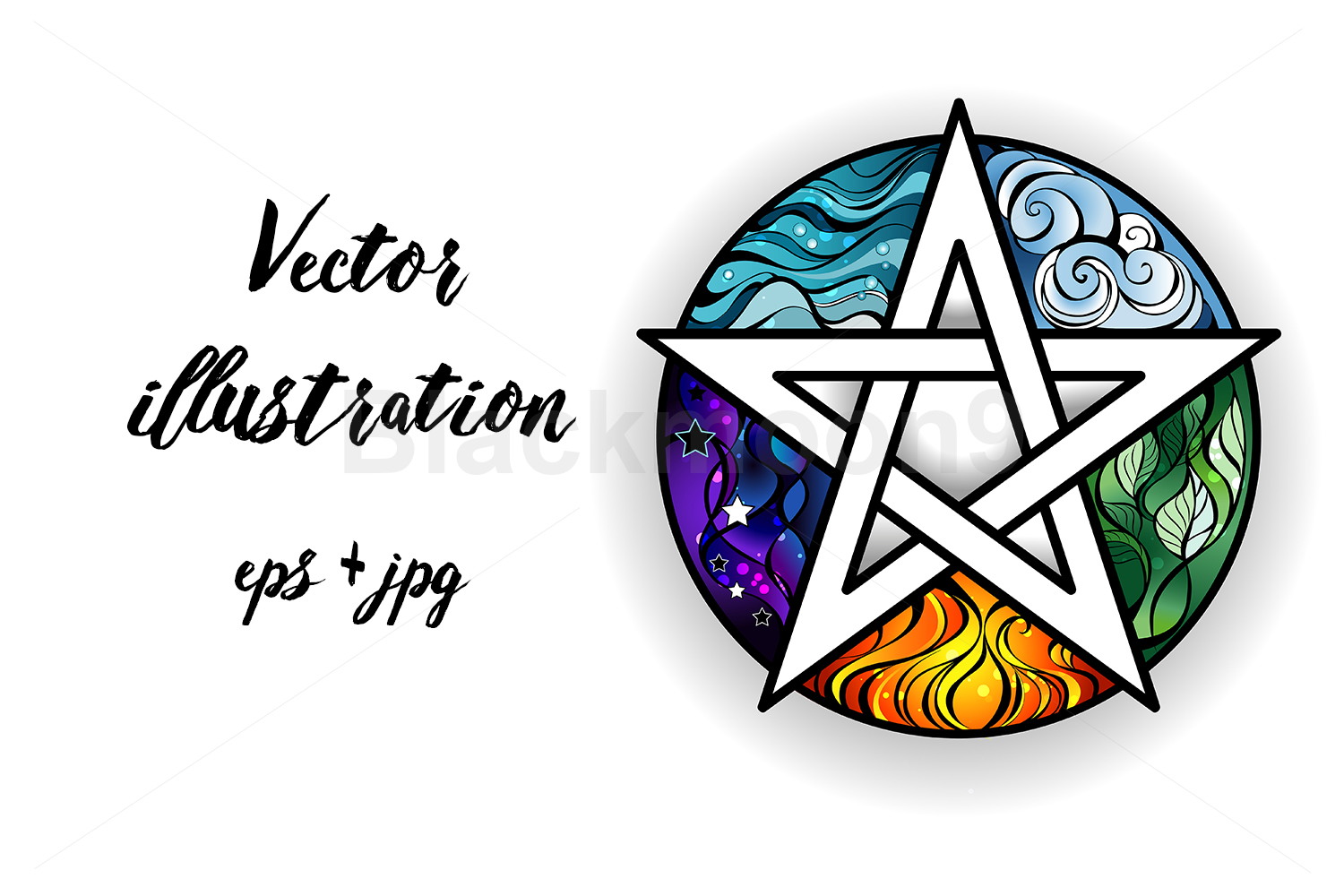 Download Free Bright Pentagram Graphic By Blackmoon9 Creative Fabrica SVG Cut Files
