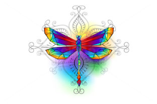 Bright Polygonal Dragonfly Graphic Illustrations By Blackmoon9