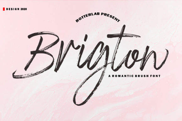 Print on Demand: Brigton Script & Handwritten Font By rotterlabstudio
