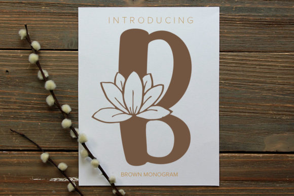 Print on Demand: Brown Monogram Decorative Font By Monogram Lovers