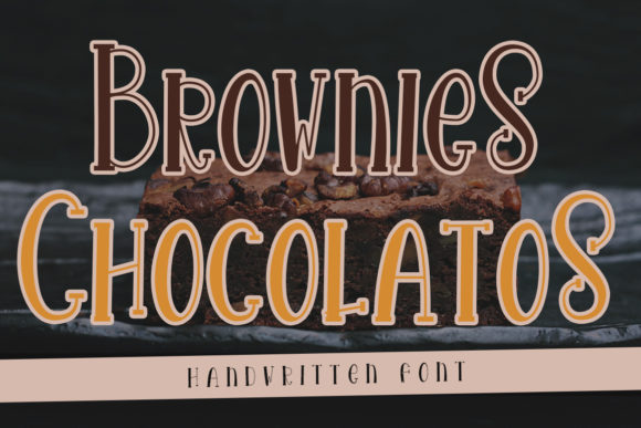 Print on Demand: Brownies Chocolatos Script & Handwritten Font By Niki Studio