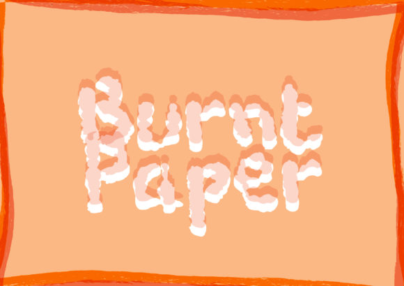Print on Demand: Burnt Paper Display Font By GraphicsBam Fonts