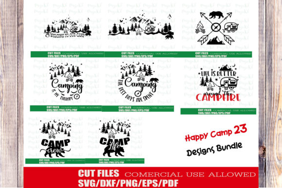 Download Free Camping Adventure Bundle Graphic By Ktwop Creative Fabrica for Cricut Explore, Silhouette and other cutting machines.