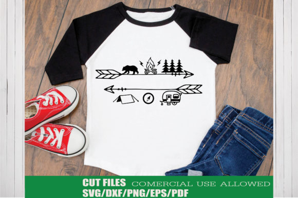 Download Free Camping Adventure Graphic By Ktwop Creative Fabrica for Cricut Explore, Silhouette and other cutting machines.