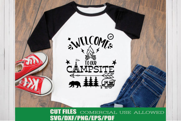 Print on Demand: Welcome to Our Campsite Graphic Crafts By KtwoP