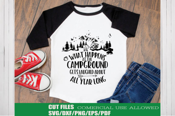 Print on Demand: Camping Quote Graphic Crafts By KtwoP