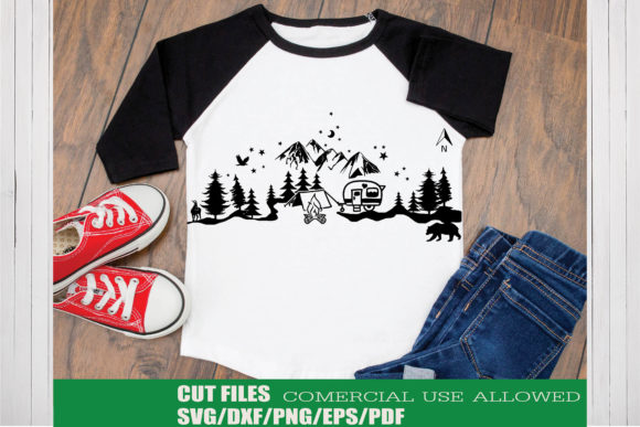 Print on Demand: Camping Adventure Mountain Craft Design Graphic Crafts By KtwoP