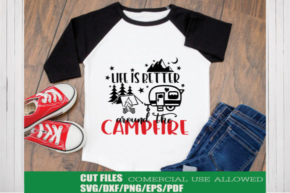 Print on Demand: Life is Better Around the Campfire Graphic Crafts By KtwoP