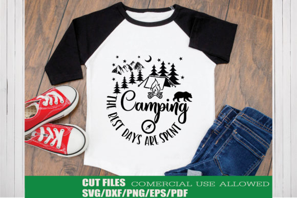 Print on Demand: The Best Days Are Spent Camping Graphic Crafts By KtwoP