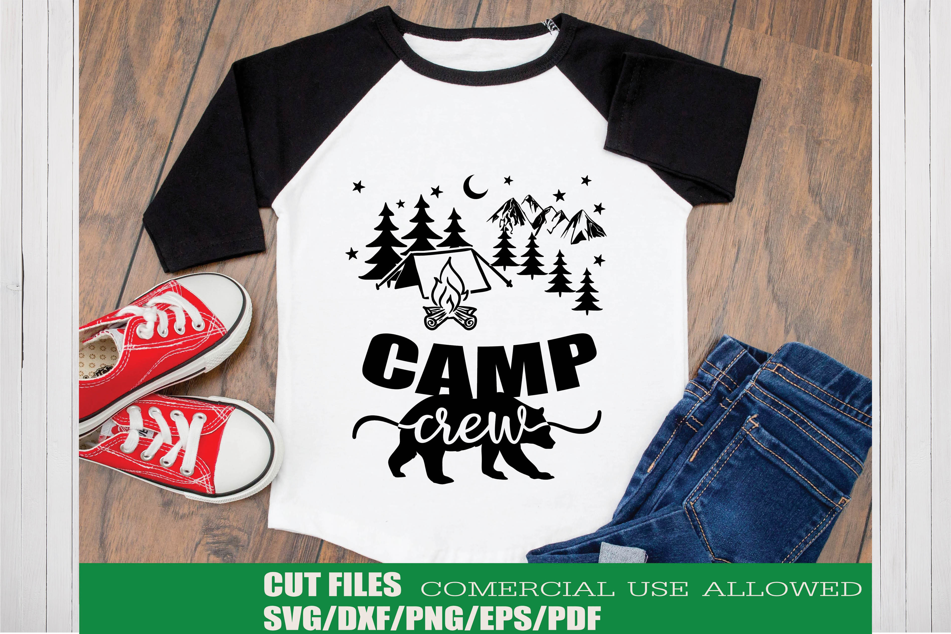 Download Free Camp Crew Graphic By Ktwop Creative Fabrica for Cricut Explore, Silhouette and other cutting machines.