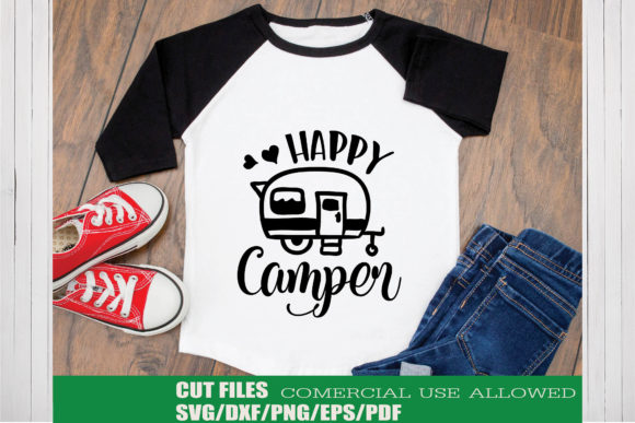 Download Free Happy Camper Graphic By Ktwop Creative Fabrica for Cricut Explore, Silhouette and other cutting machines.