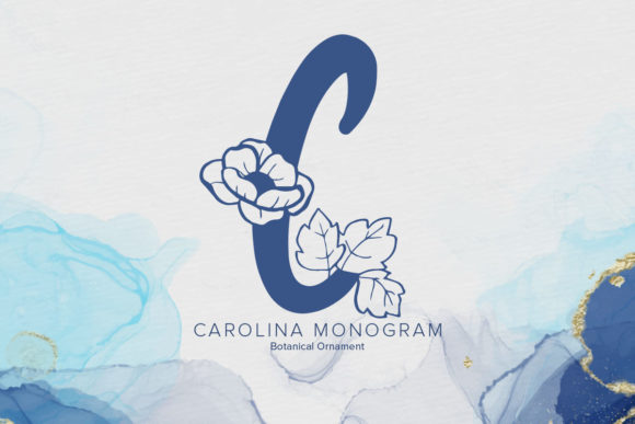 Print on Demand: Carolina Monogram Dekorativ Schriftarten von Monogram Lovers