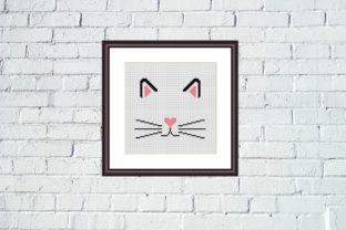 Print on Demand: Cat Face Cross Stitch Cute Animals Graphic Cross Stitch Patterns By Tango Stitch