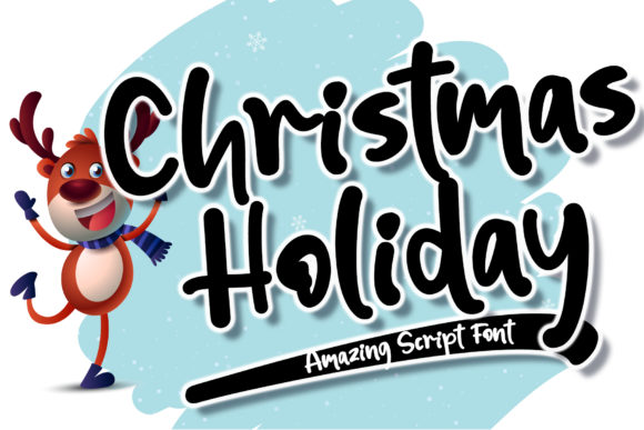 Print on Demand: Christmas Holiday Script & Handwritten Font By Stefani Letter