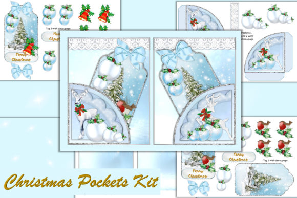 Print on Demand: Christmas Journal Ephemera Pockets Kit Graphic Crafts By The Paper Princess