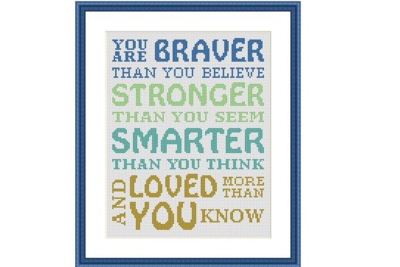 Christopher Robin Quote Nursery Xstitch Graphic Download