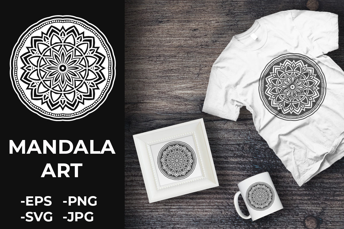 Download Free Circular Pattern Mandala Art 370 Graphic By Azrielmch for Cricut Explore, Silhouette and other cutting machines.