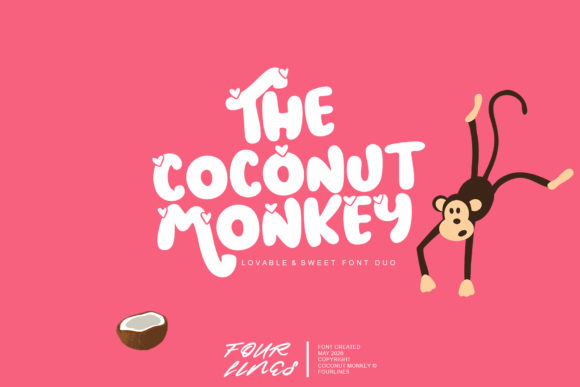 Print on Demand: Coconut Monkey Display Font By Fourlines.design
