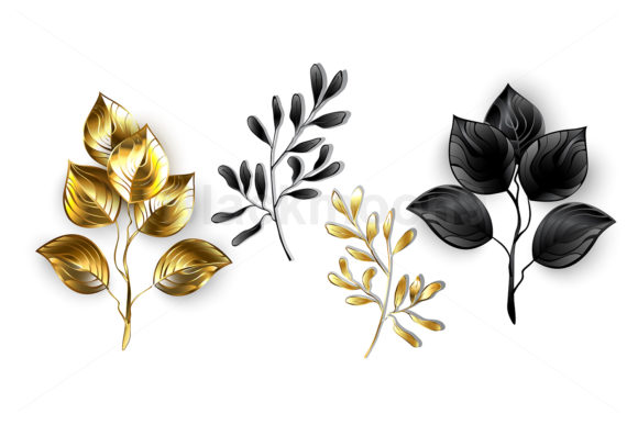 Collection of Jewelry Branches Graphic Illustrations By Blackmoon9
