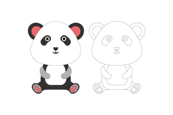Print on Demand: Coloring Page Panda Graphic Coloring Pages & Books Kids By studioisamu