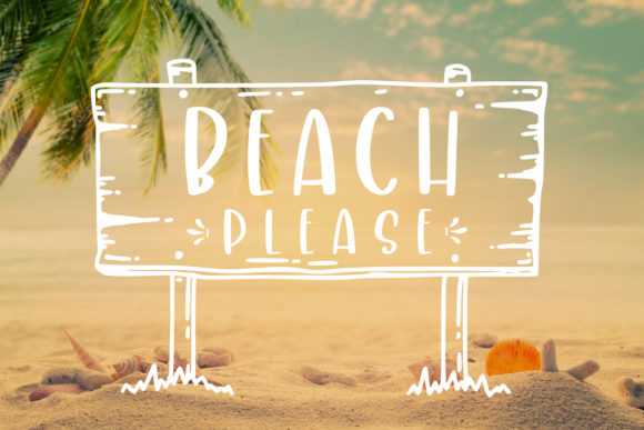 Print on Demand: Crafty Beach Script & Handwritten Font By Abodaniel - Image 4