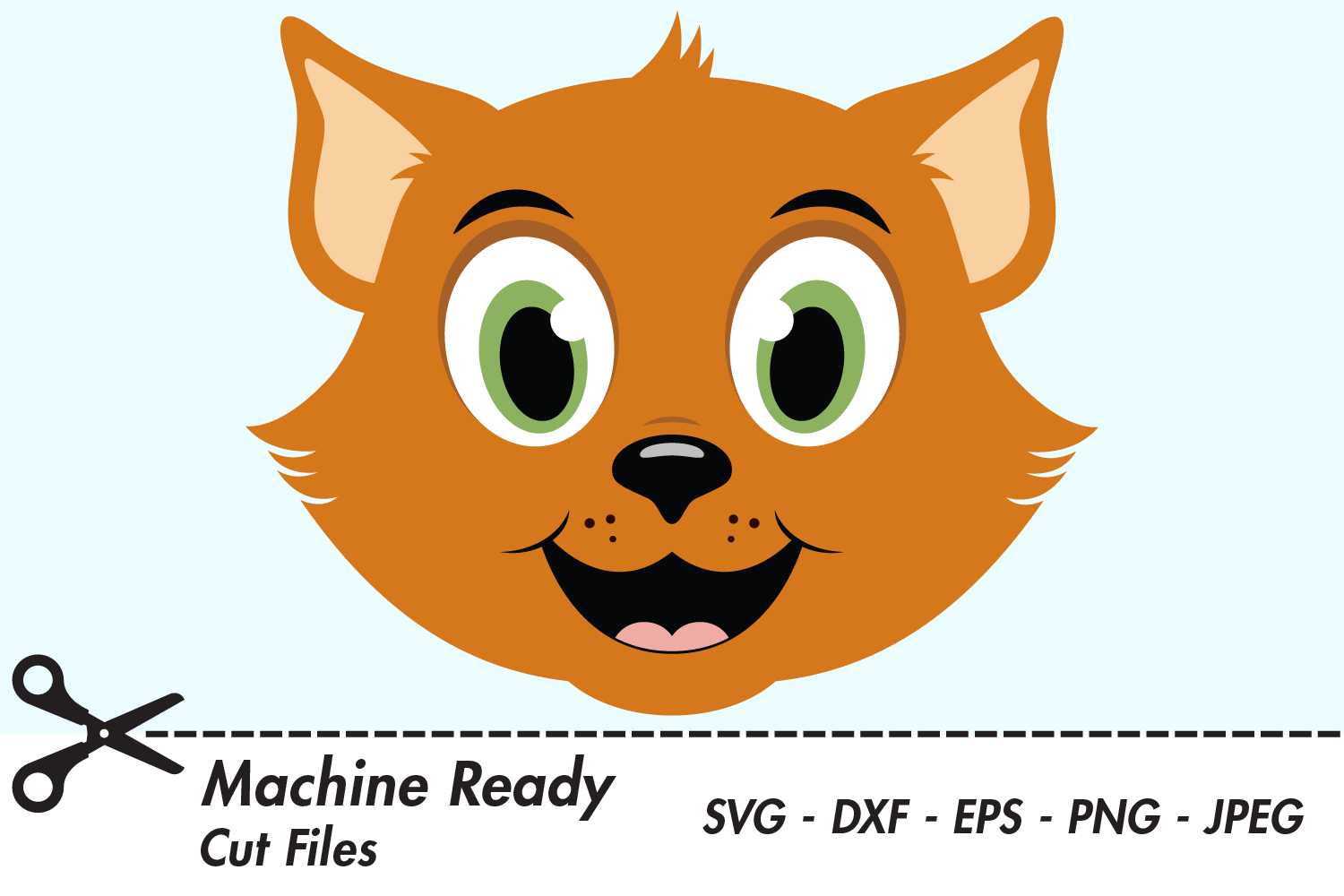 Download Free Cute Boy Cat Face Graphic By Captaincreative Creative Fabrica for Cricut Explore, Silhouette and other cutting machines.