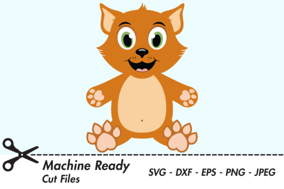 Download Free Cute Boy Cat Graphic By Captaincreative Creative Fabrica for Cricut Explore, Silhouette and other cutting machines.