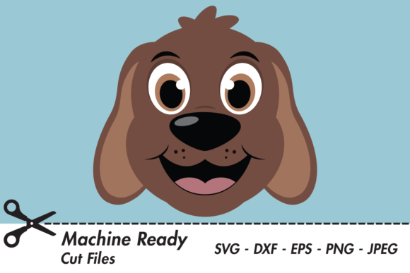 Download Free Cute Boy Dog Face Graphic By Captaincreative Creative Fabrica for Cricut Explore, Silhouette and other cutting machines.