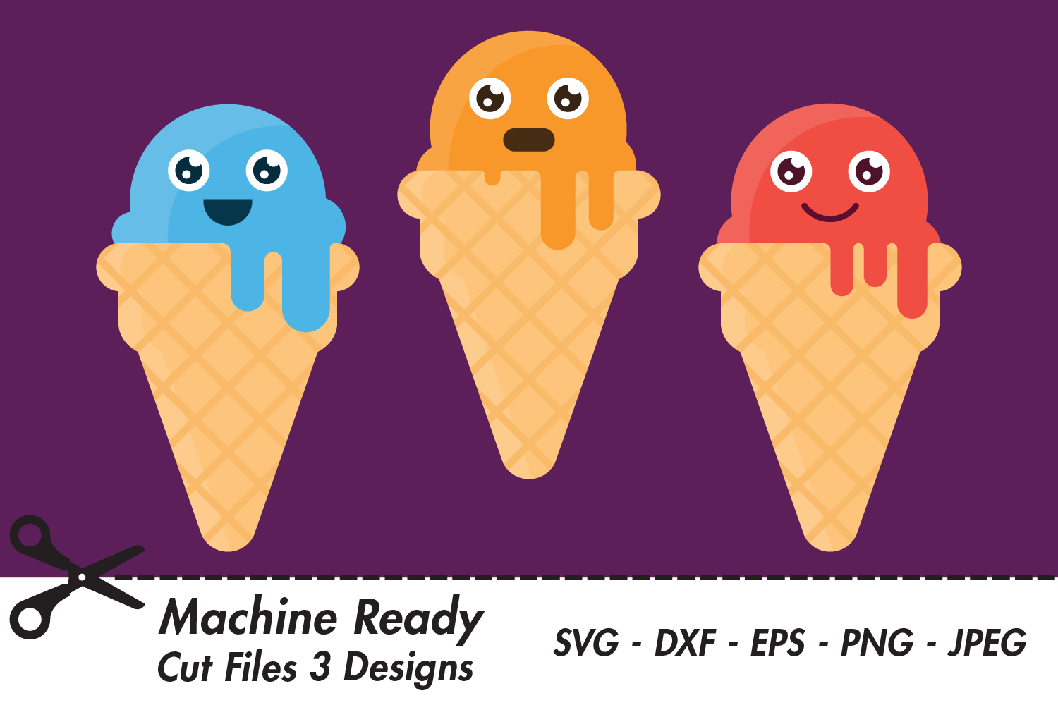 Download Free Cute Boy Ice Cream Cones Graphic By Captaincreative Creative for Cricut Explore, Silhouette and other cutting machines.