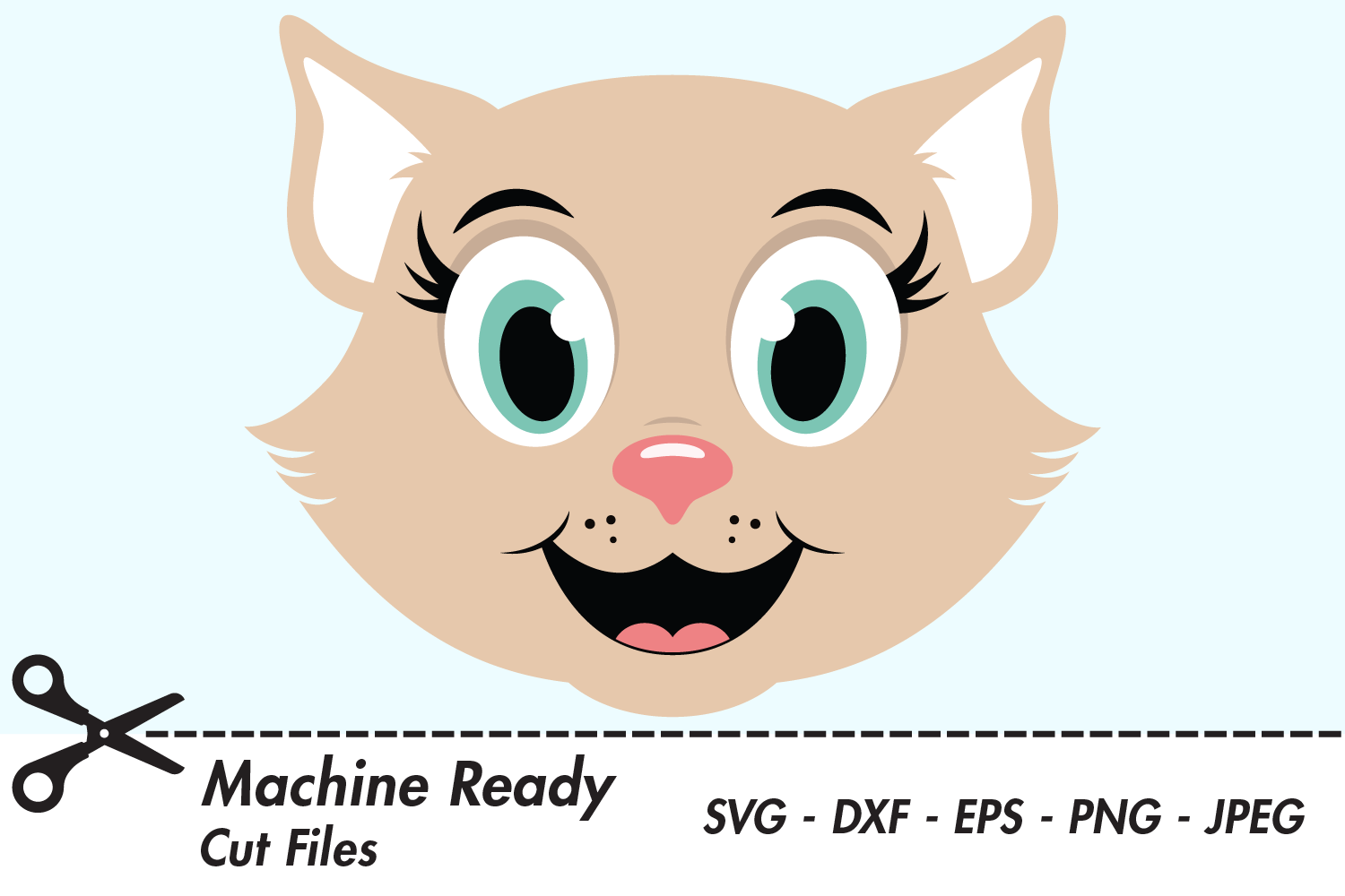 Cute Girl Cat Face Graphic By Captaincreative Creative Fabrica