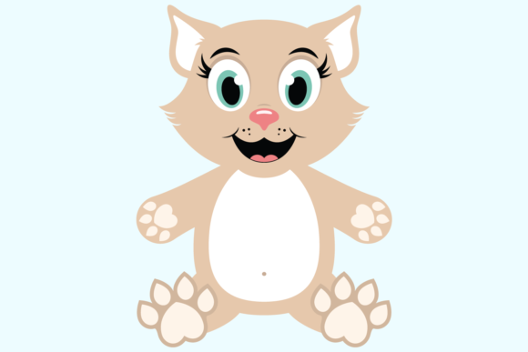 Download Free Cute Girl Cat Graphic By Captaincreative Creative Fabrica for Cricut Explore, Silhouette and other cutting machines.