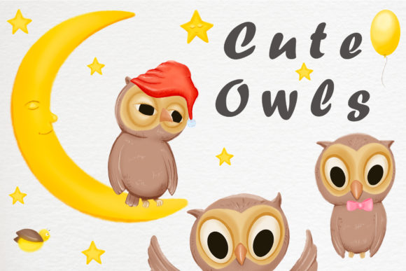 Download Free Cute Owls Clipart And Patterns Graphic By Gennadii Art for Cricut Explore, Silhouette and other cutting machines.