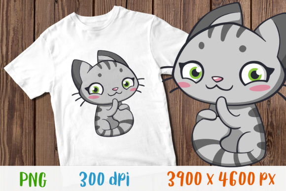 Download Free Funny Cat T Shirt For Child Design Graphic By Greenwolf Art for Cricut Explore, Silhouette and other cutting machines.