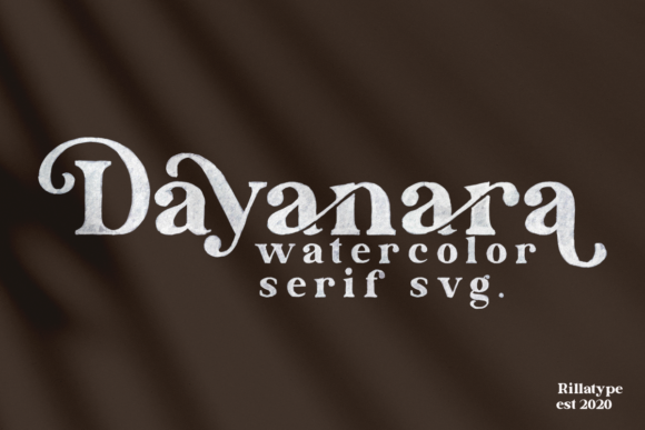 Download Free Dayanara Font By Rillatype Creative Fabrica for Cricut Explore, Silhouette and other cutting machines.