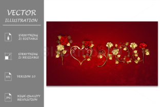 Declaration of Love from Red Roses Graphic Illustrations By Blackmoon9