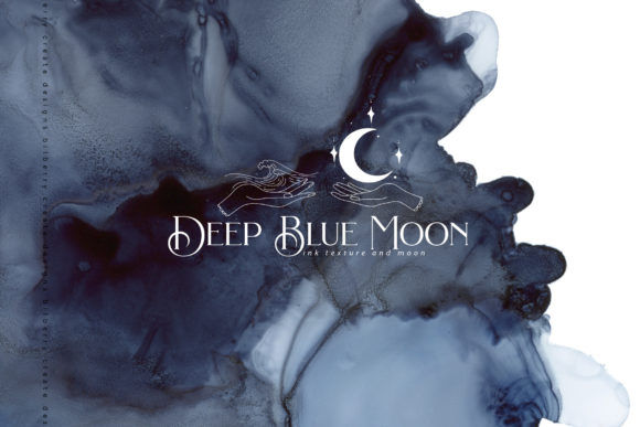 Deep Blue Moon Graphic Textures By BilberryCreate