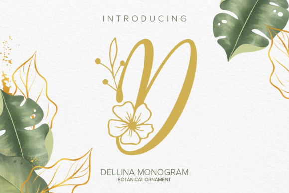 Print on Demand: Dellina Monogram Decorative Font By Monogram Lovers